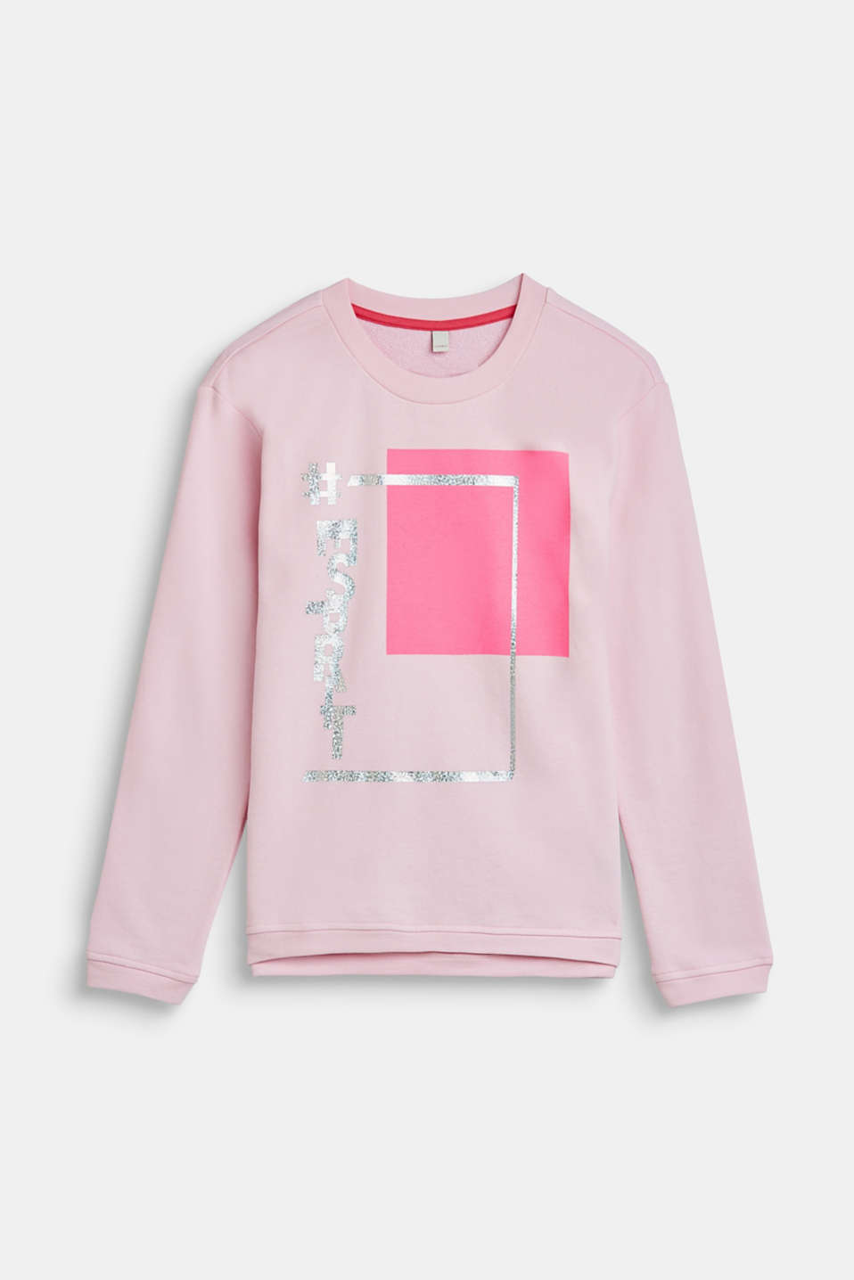 Esprit - Sweatshirt with a metallic print, 100% cotton