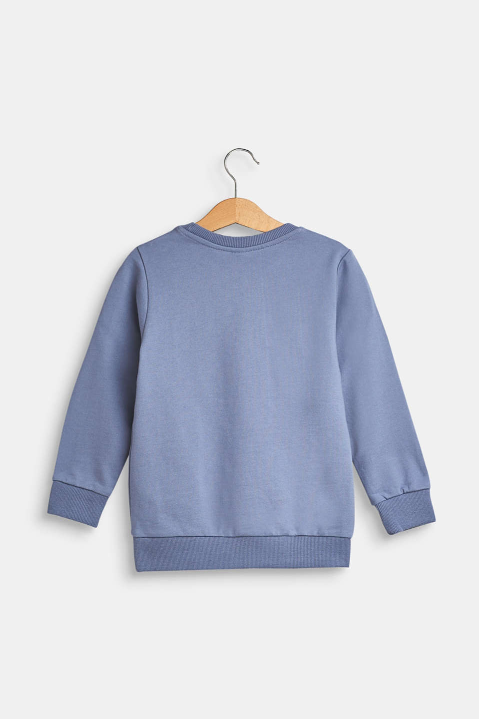 Sweatshirt with statement print, 100% cotton, GREY BLUE, detail image number 1