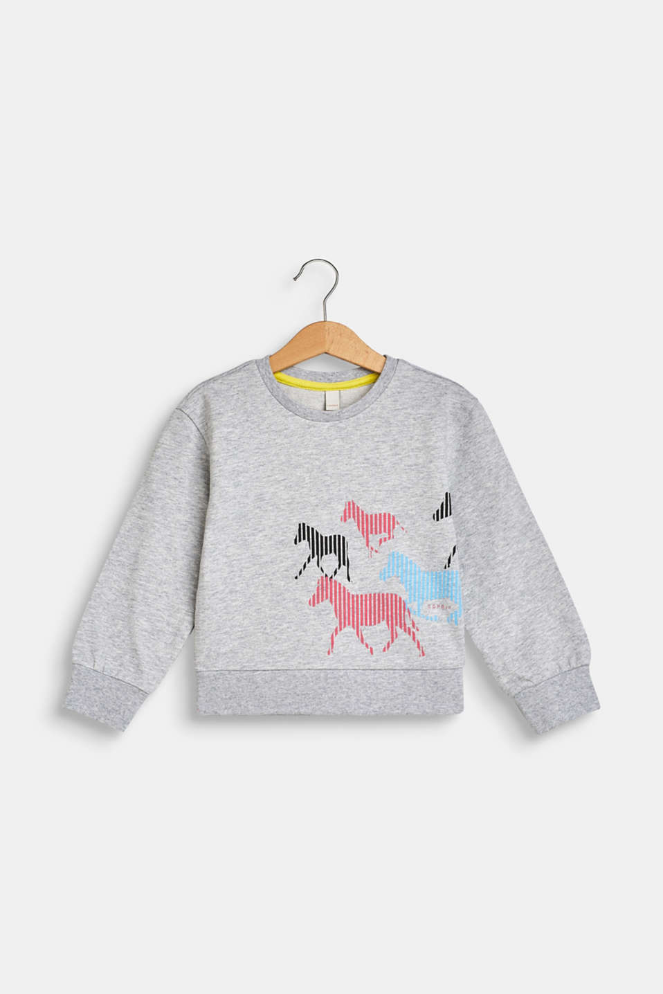 Esprit - Sweat-shirt à imprimé cheval, 100 % coton
