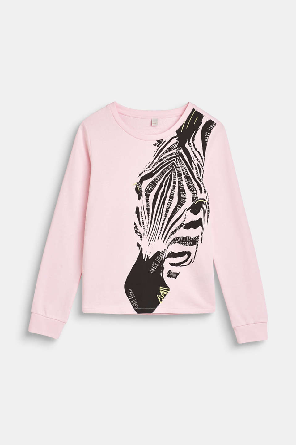 Esprit - Sweatshirt with a zebra print, 100% cotton