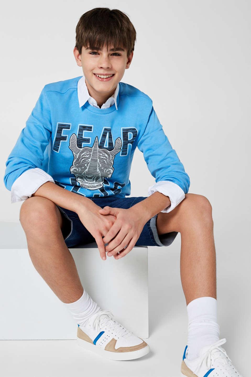 Sweatshirts, LCAZUR BLUE, detail image number 2