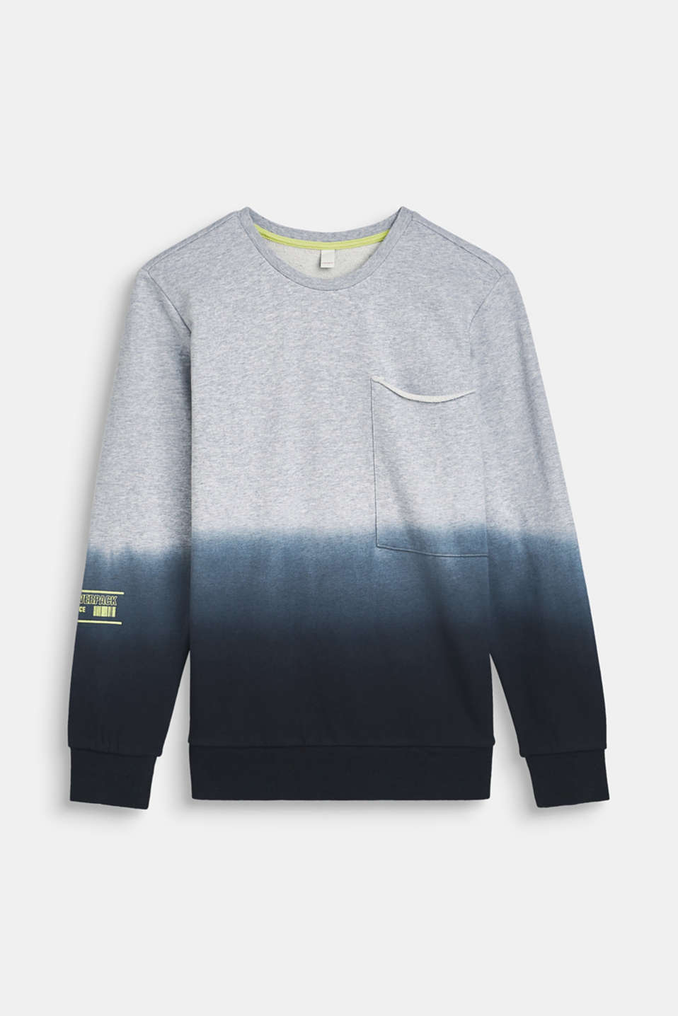 Esprit - Dip-dye sweatshirt made of 100% cotton