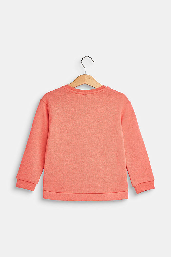 Sweatshirt met statement print, CORAL, detail image number 1