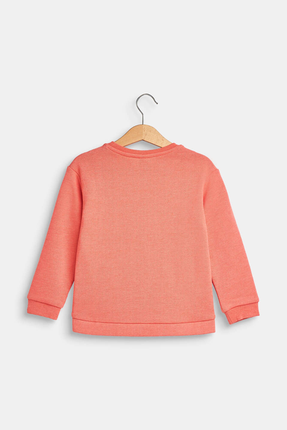 Statement print sweatshirt, CORAL, detail image number 1