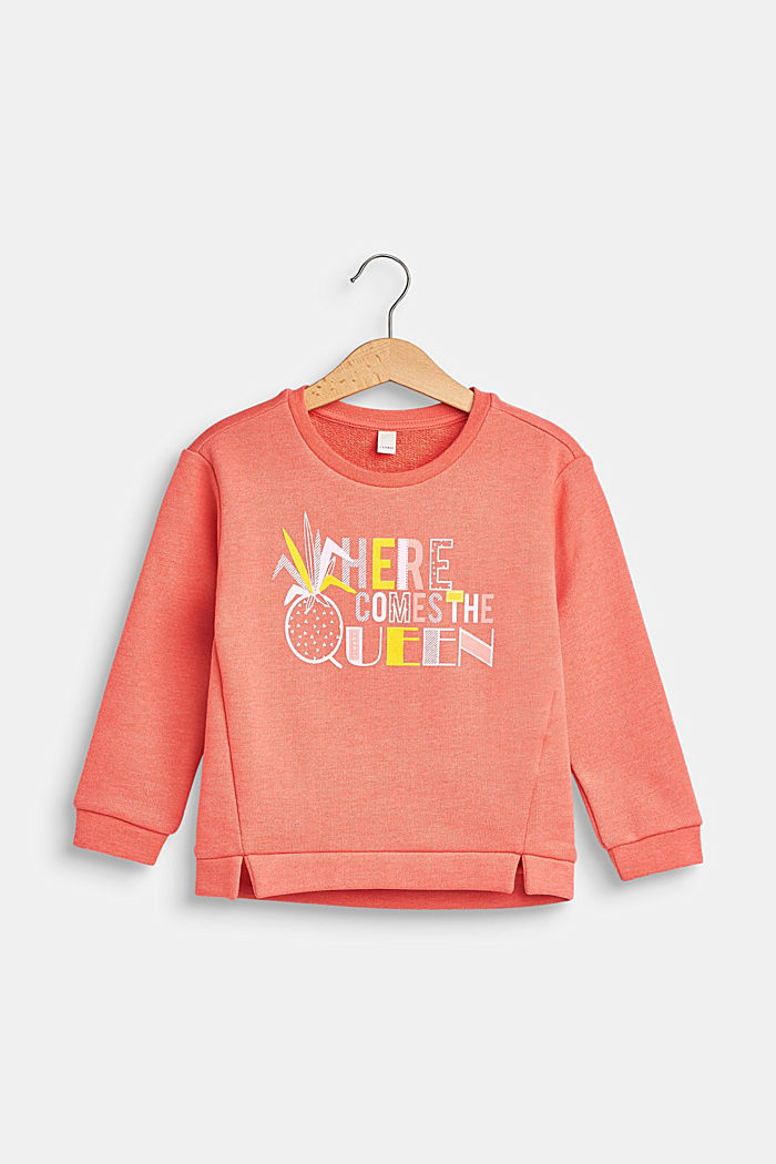 Sweatshirt met statement print, CORAL, detail image number 0