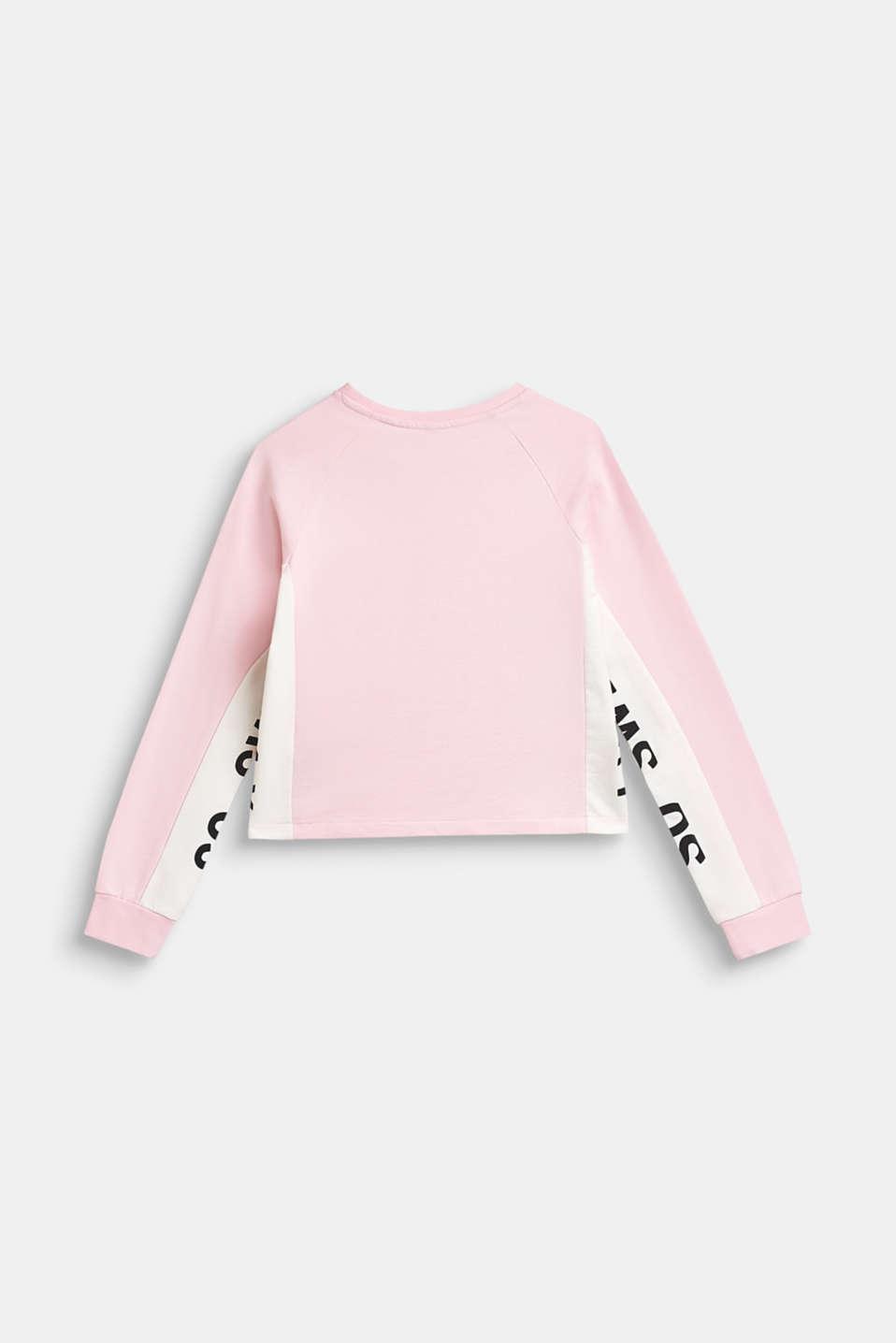 Sweatshirt with statement print, 100% cotton, LCBLUSH, detail image number 1
