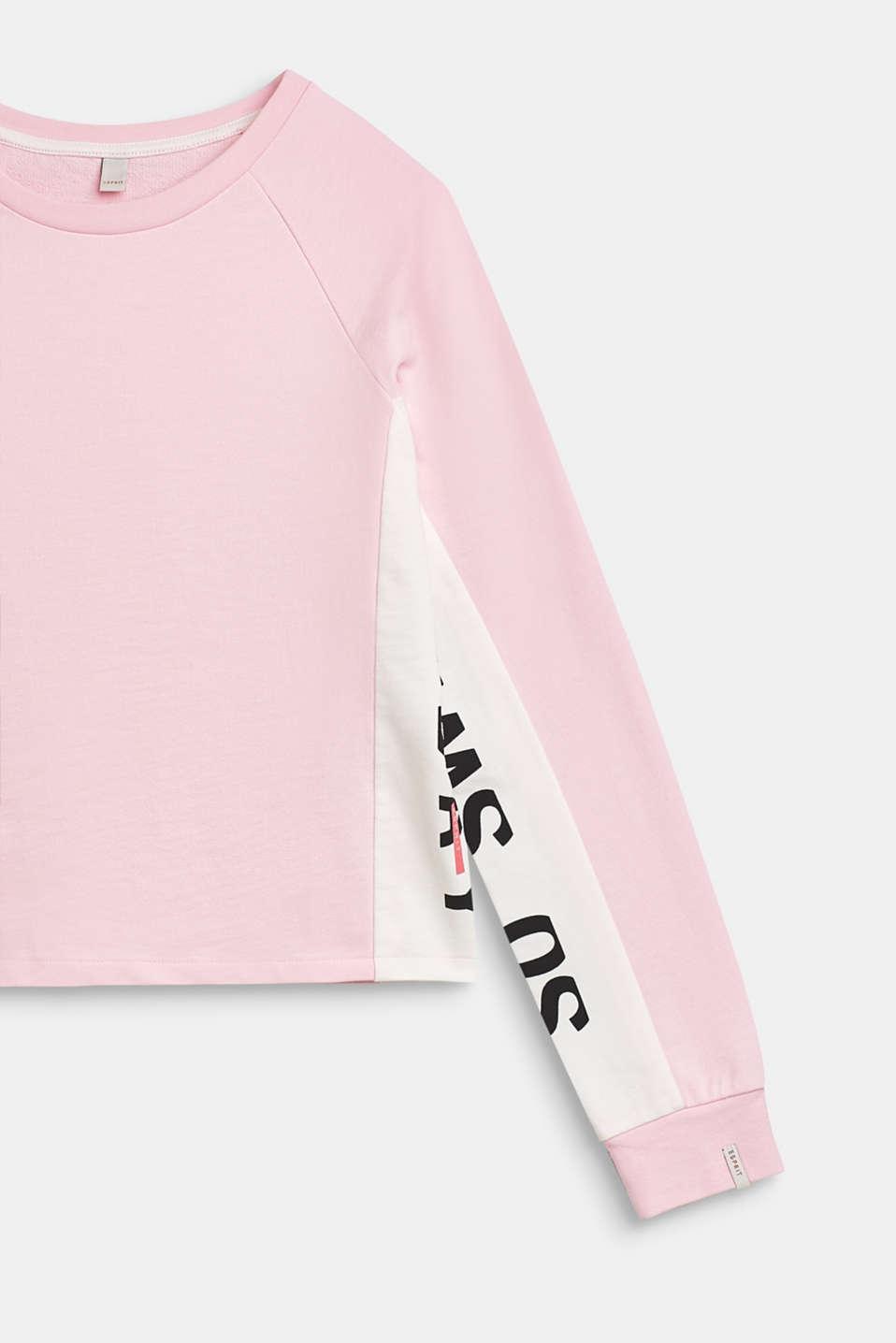 Sweatshirt with statement print, 100% cotton, LCBLUSH, detail image number 2