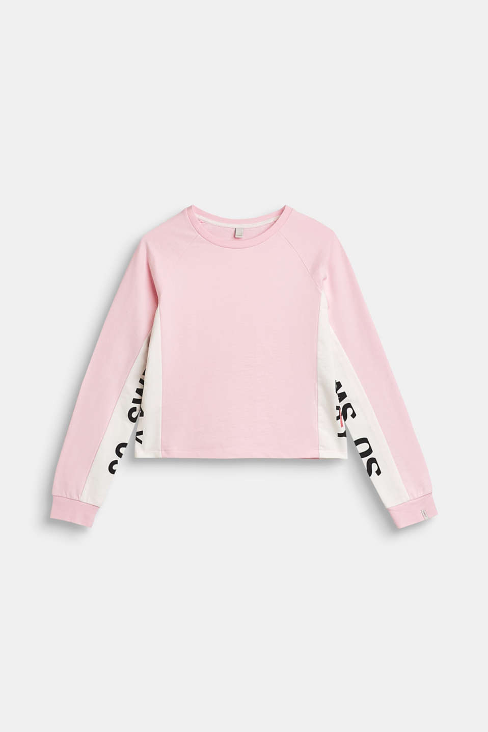Esprit - Sweatshirt with statement print, 100% cotton