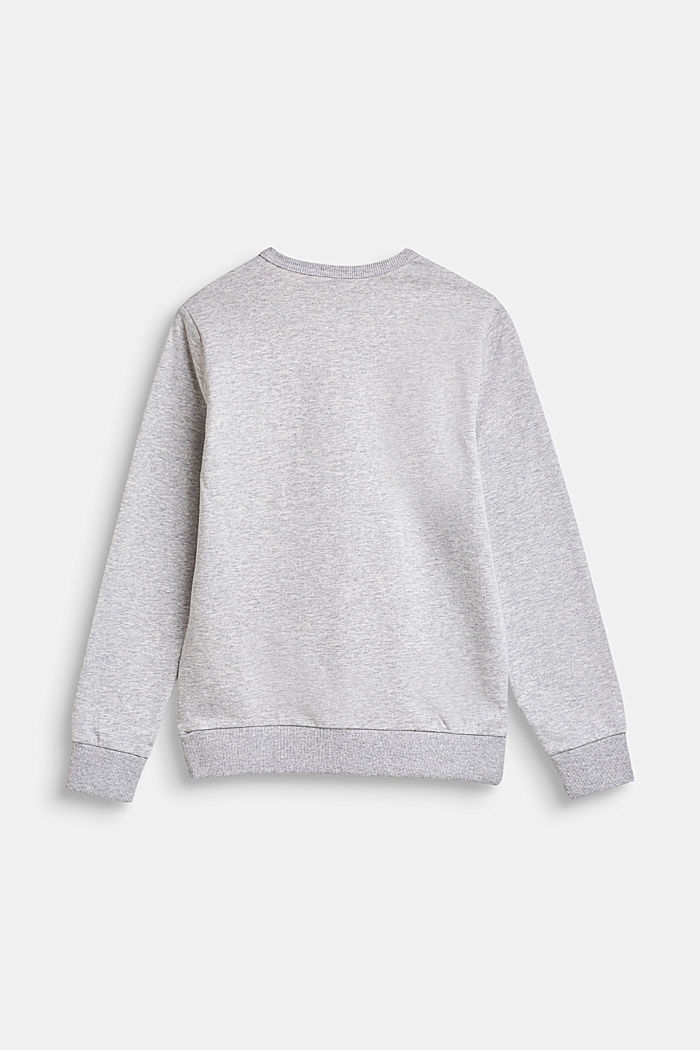 Sudadera con rótulo estampado, 100% algodón, LCHEATHER SILVER, detail image number 1
