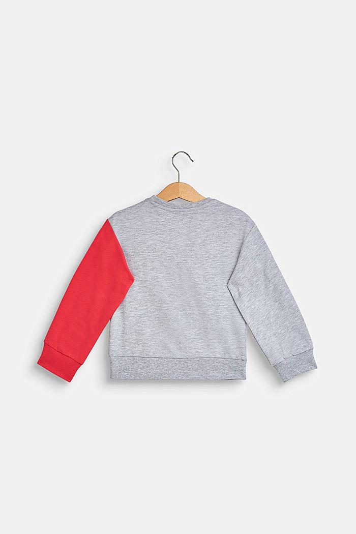 Sweatshirt met toekanprint, HEATHER SILVER, detail image number 1
