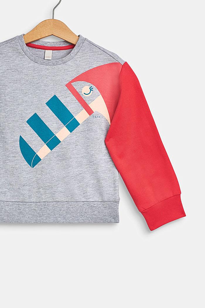 Sweatshirt met toekanprint, HEATHER SILVER, detail image number 2