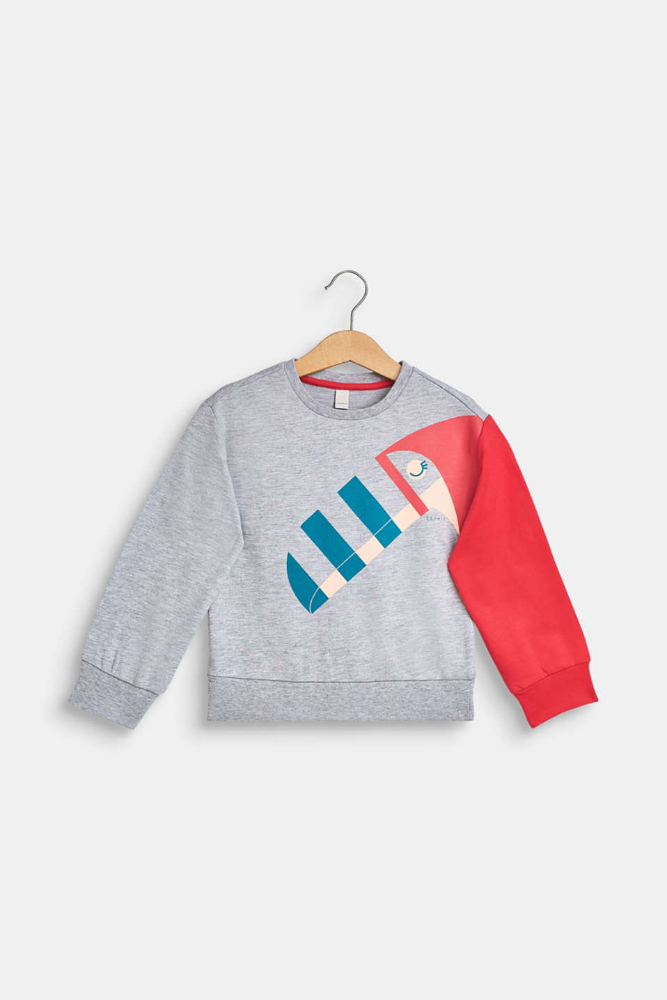 Toucan print sweatshirt, HEATHER SILVER, detail image number 0