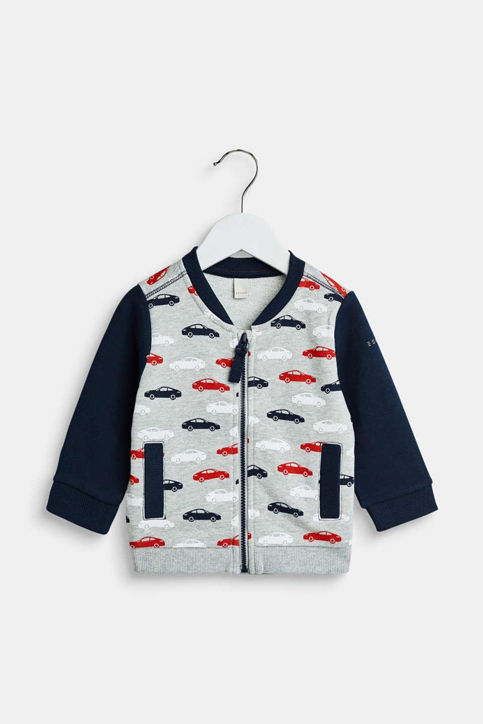 Sweatshirts cardigan, LCHEATHER SILVER, detail image number 0