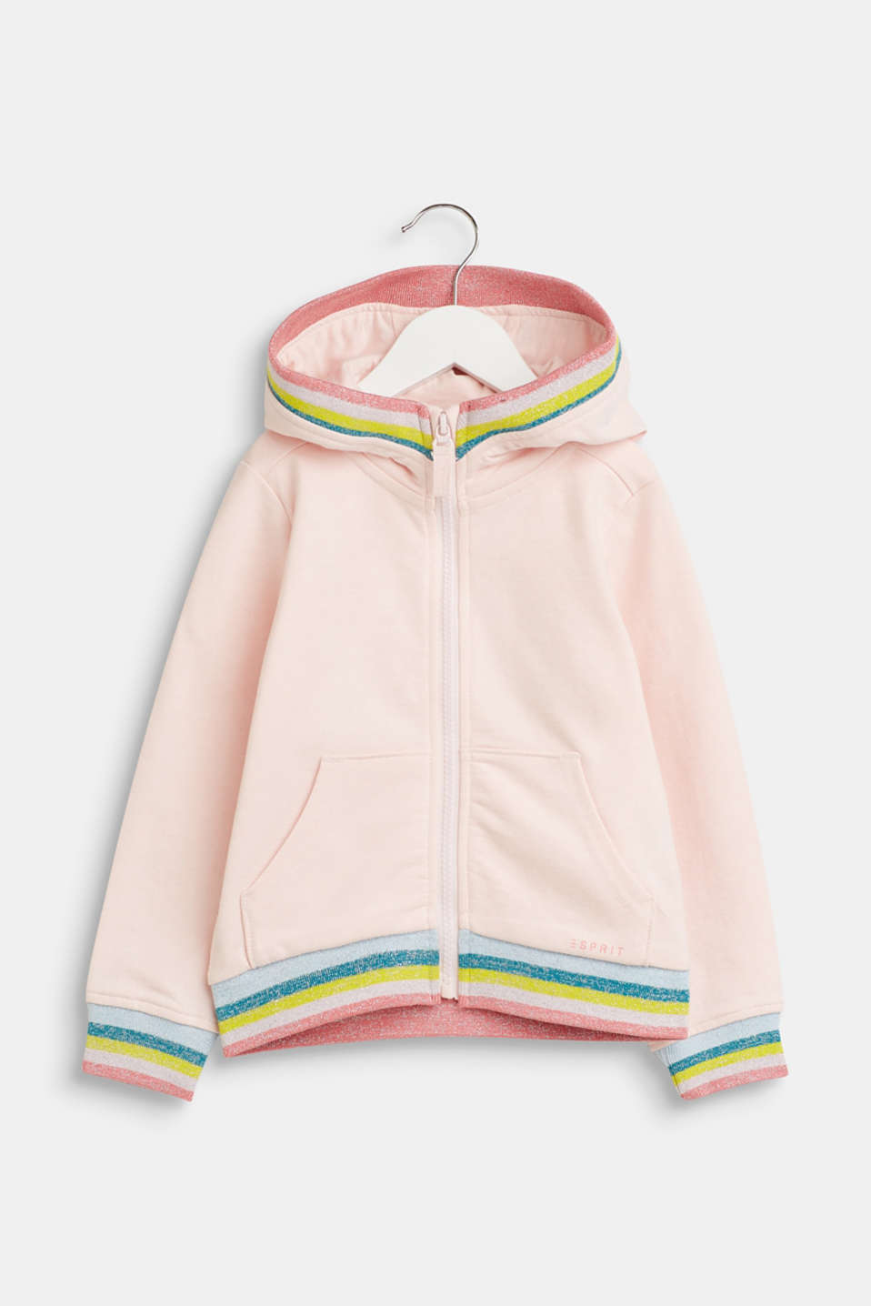 Esprit - Hoodie with rainbow borders