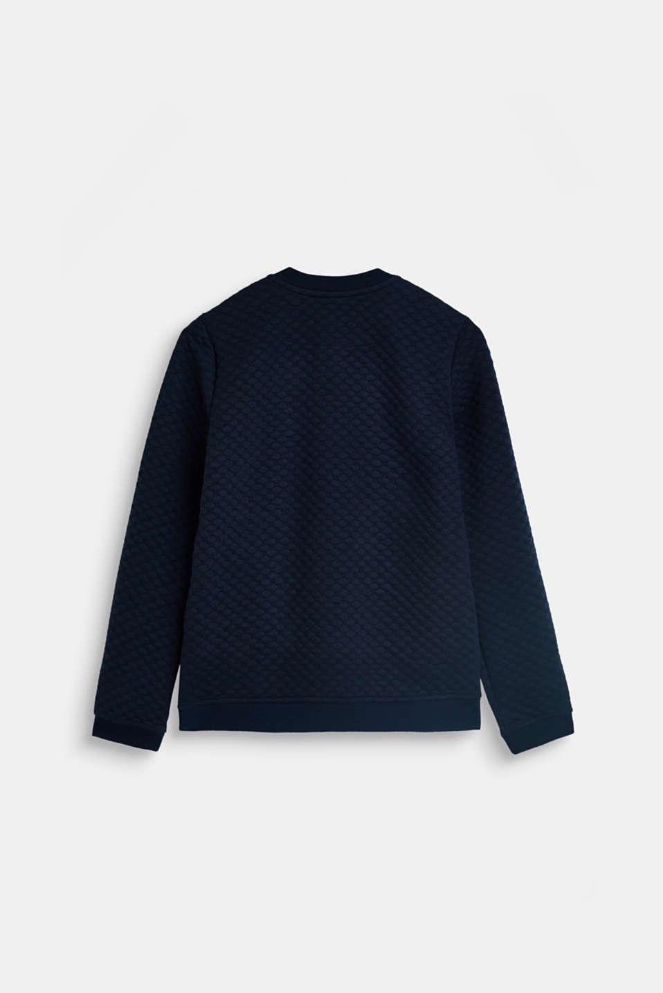 Sweatshirts cardigan, LCNAVY BLUE, detail image number 1