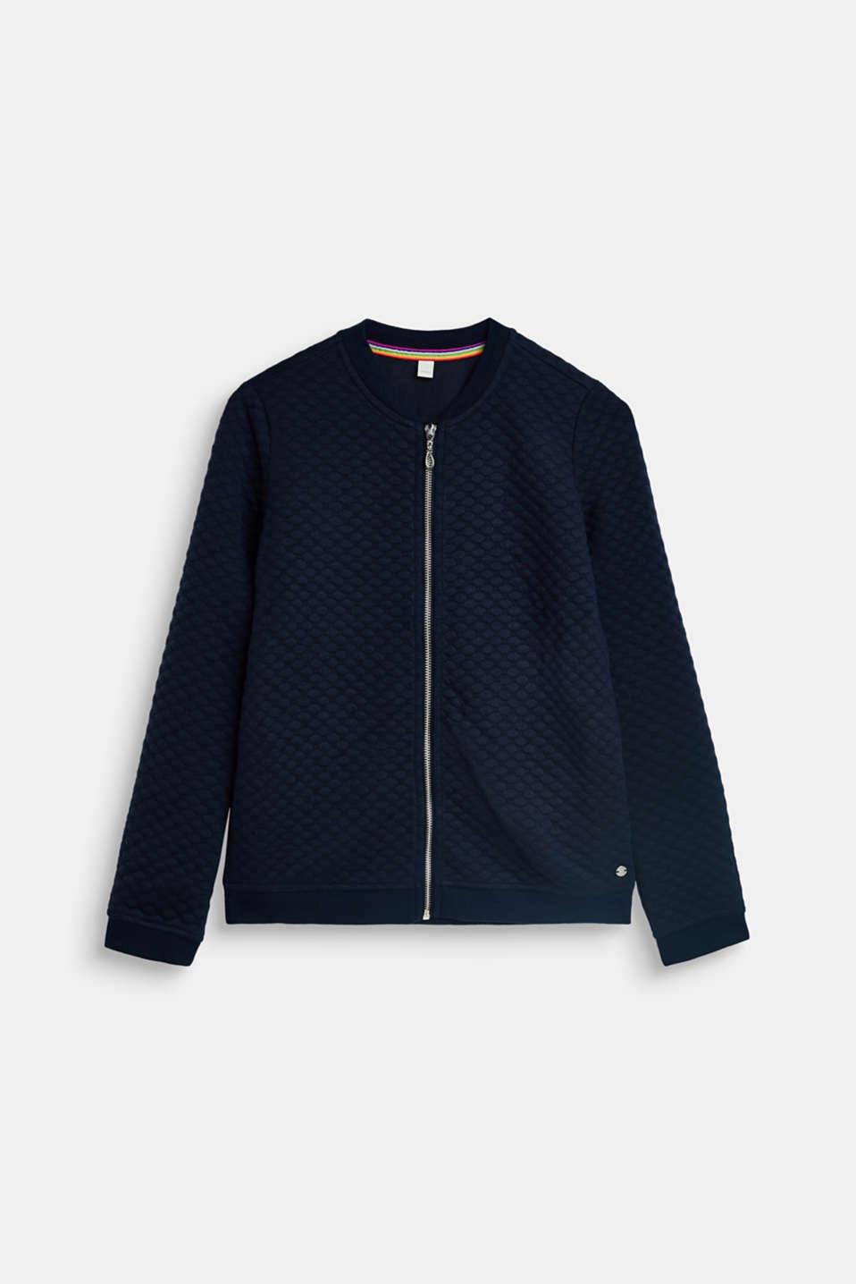 Sweatshirts cardigan, LCNAVY BLUE, detail image number 0