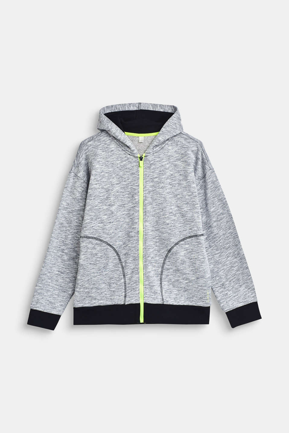 Esprit - Cardigan sweat-shirt chiné, 100 % coton