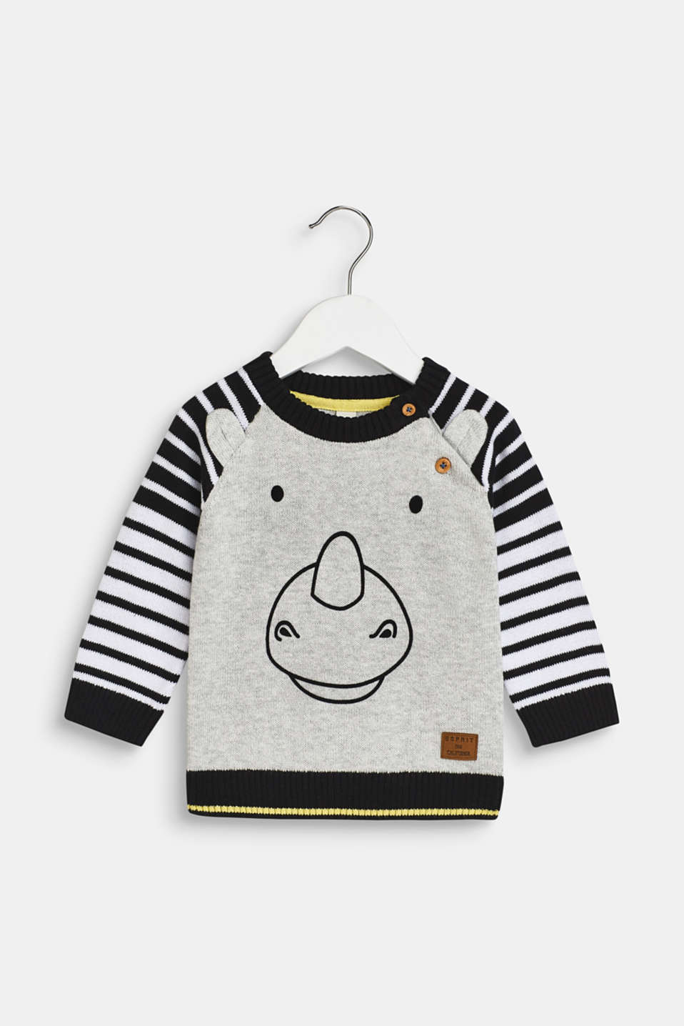 Esprit - Jumper with a rhino face, 100% cotton
