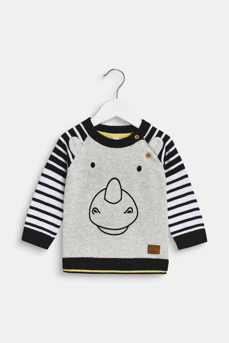 Esprit Pullover mit Nashorngesicht, 100% Baumwolle im