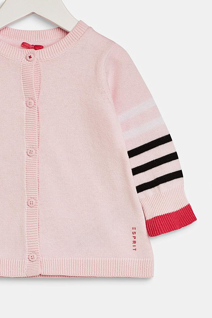 Strick-Cardigan mit Streifen, 100% Baumwolle, LCBLUSH, detail image number 2