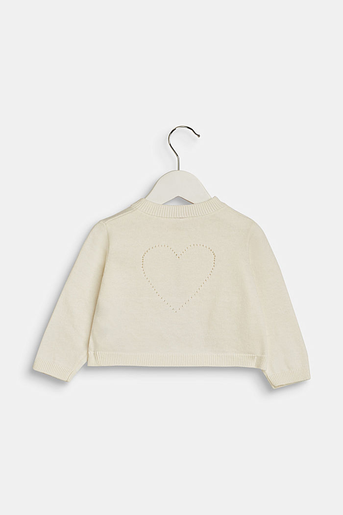 Feinstrick-Bolero aus 100% Baumwolle, LCOFF WHITE, detail image number 1