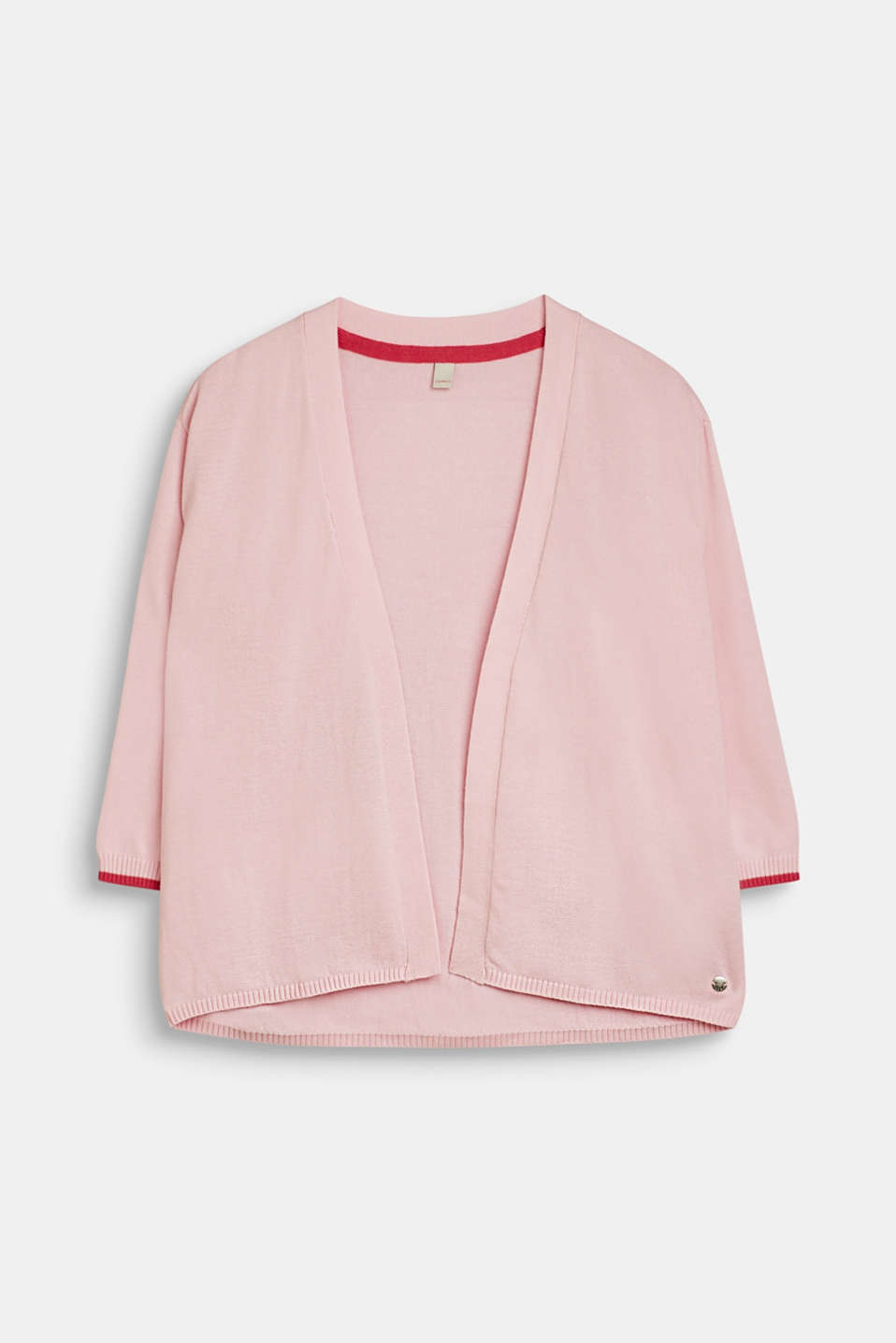 Esprit - Open cardigan in 100% cotton