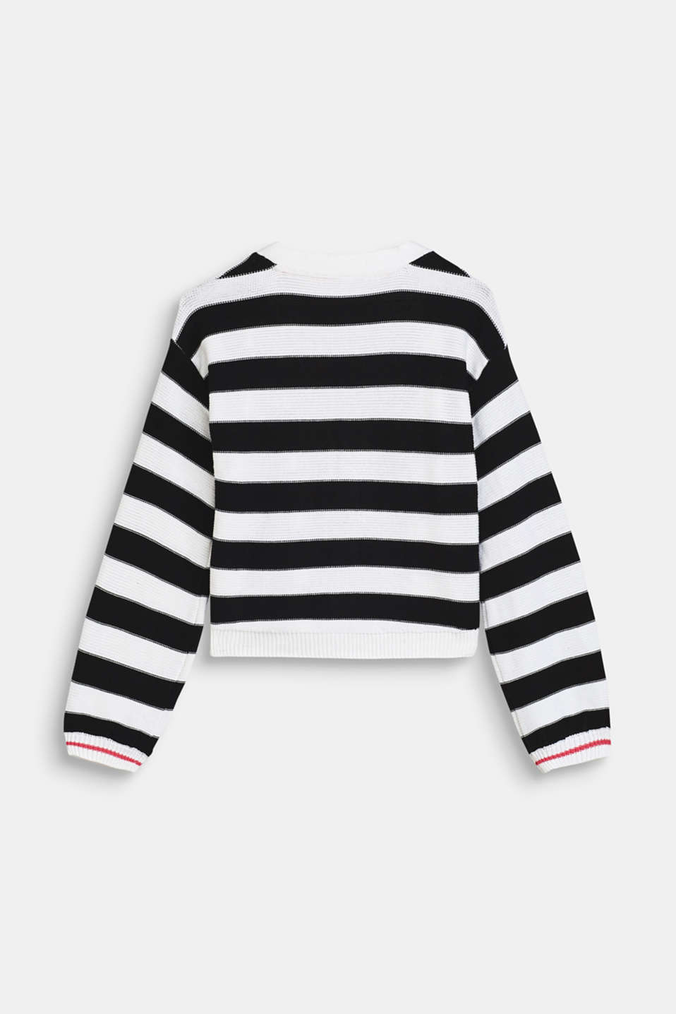 Striped cardigan with balloon sleeves, LCWHITE, detail image number 1
