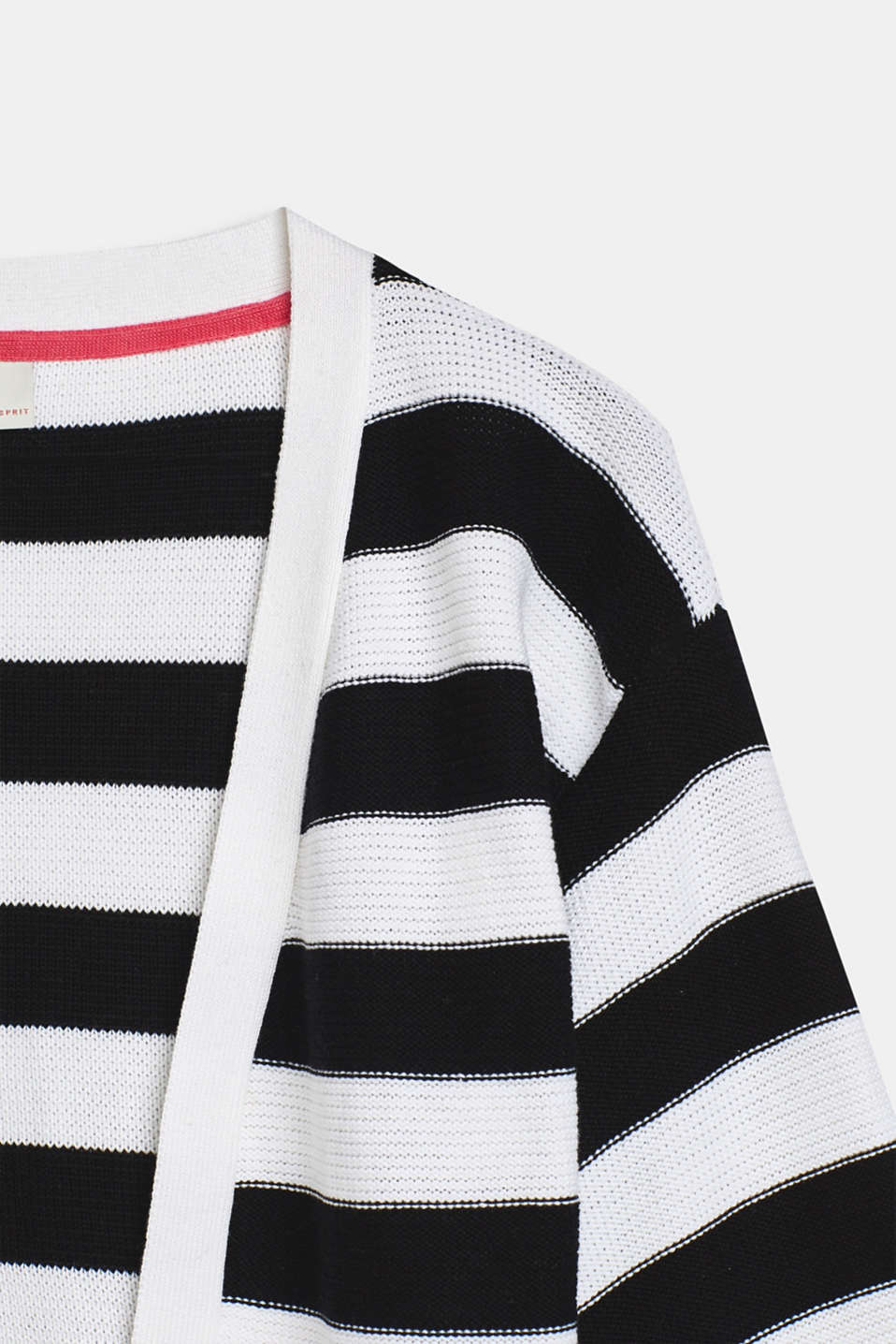 Striped cardigan with balloon sleeves, LCWHITE, detail image number 2