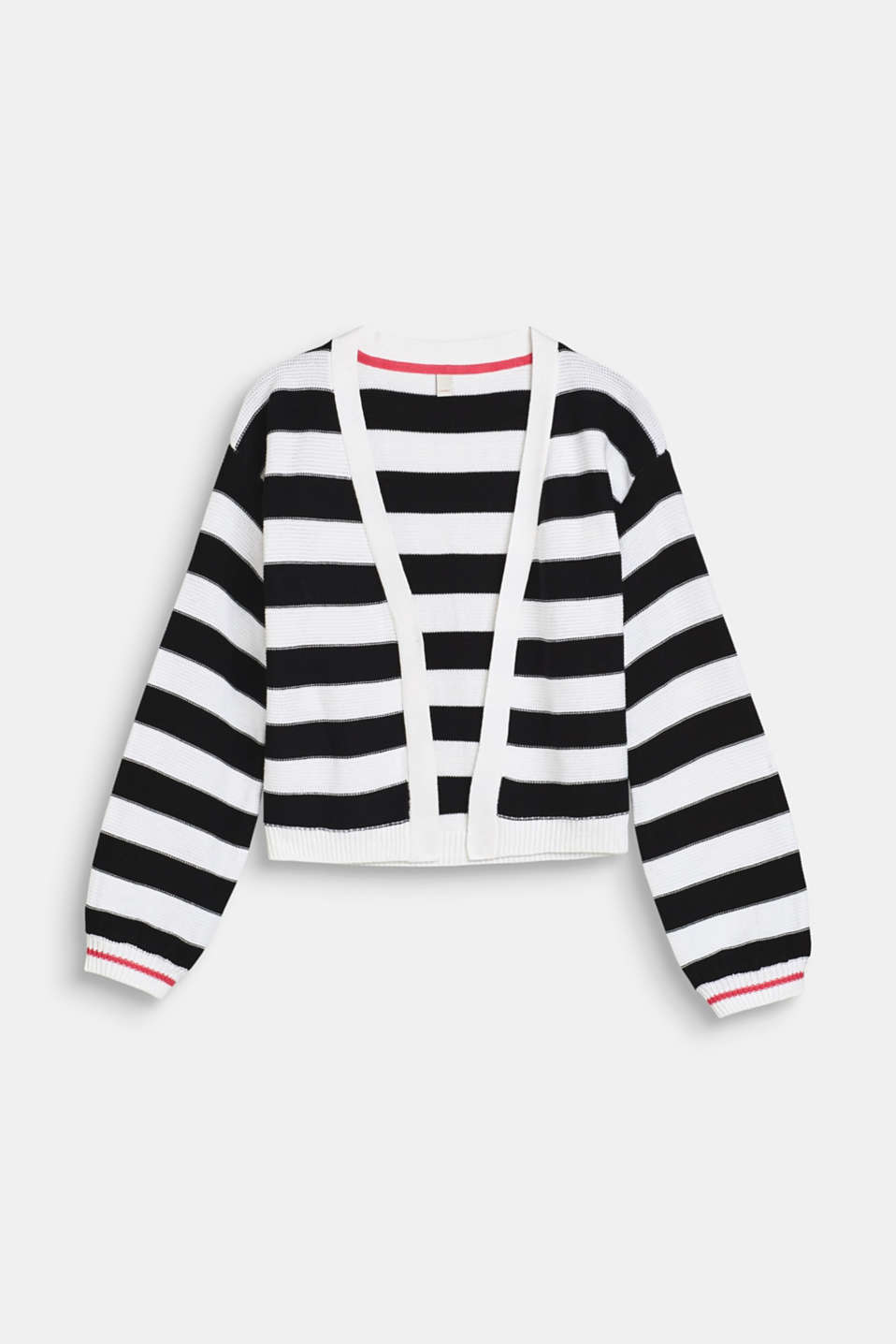 Esprit - Striped cardigan with balloon sleeves