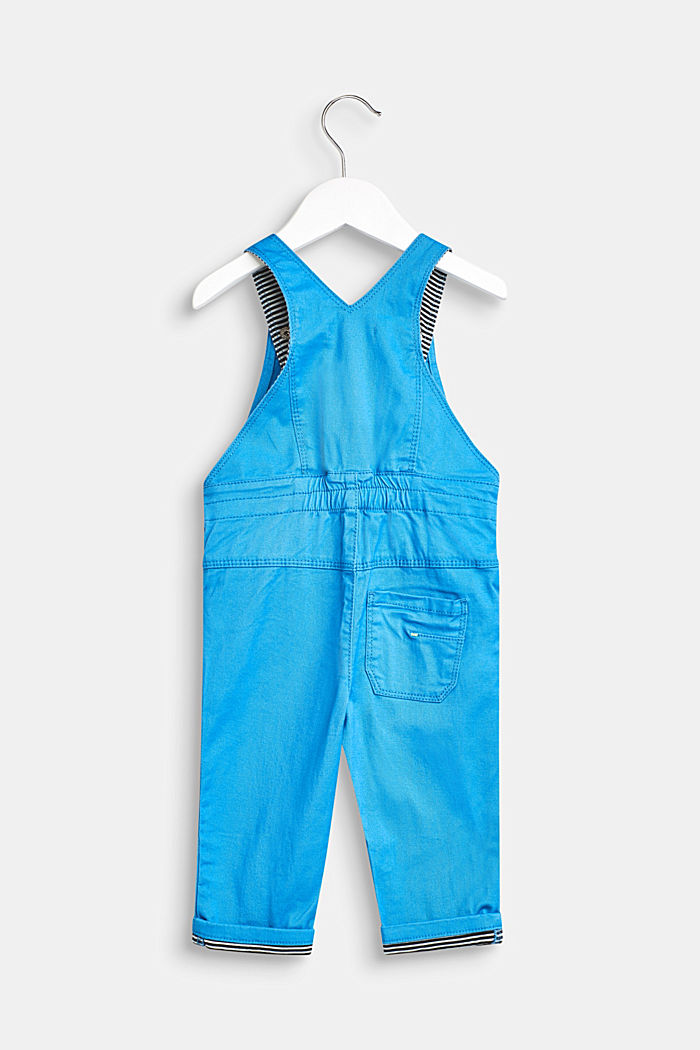 Dungarees with striped details and a rhino pocket, LCAZUR BLUE, detail image number 1