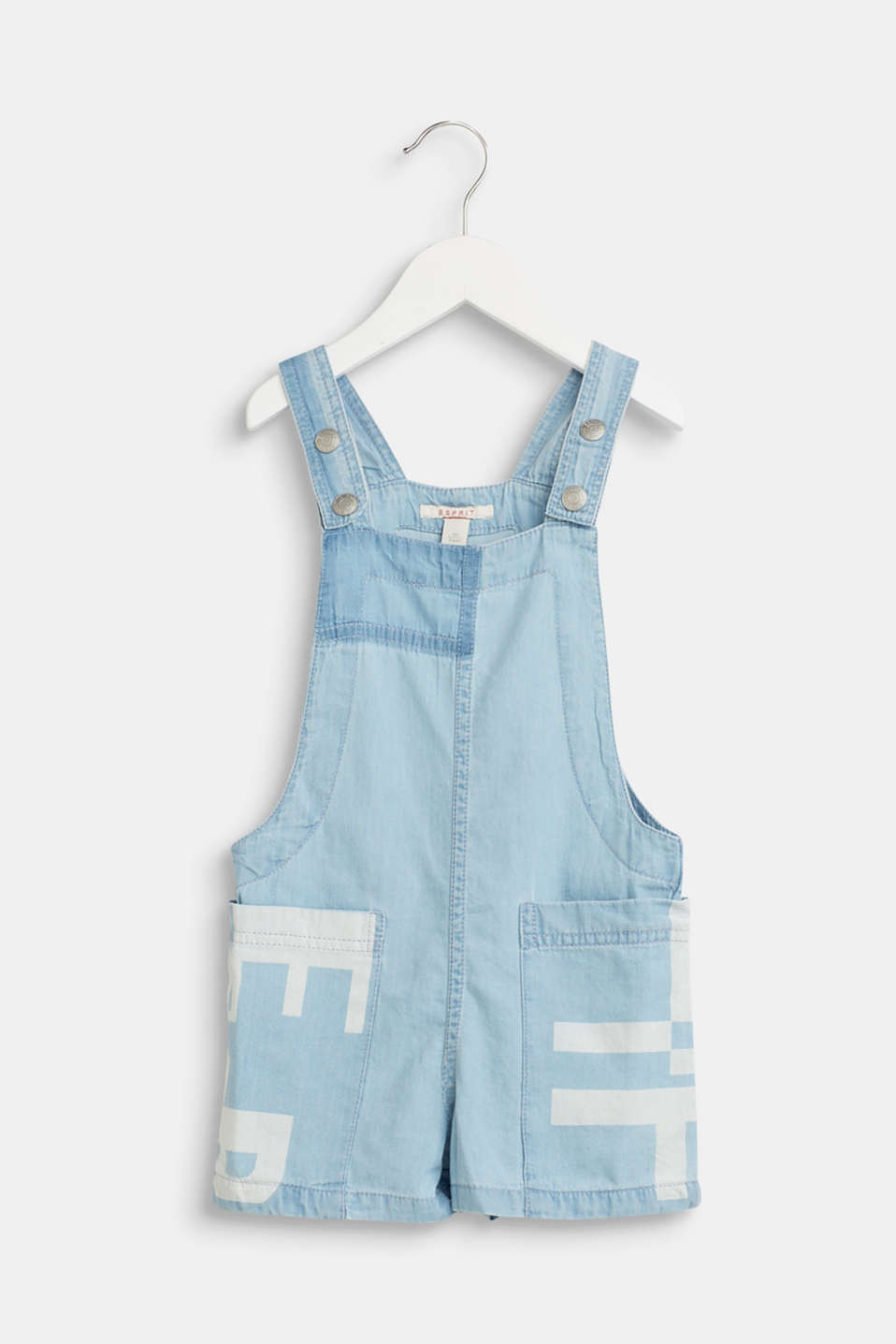 Esprit - Denim dungarees with a logo print