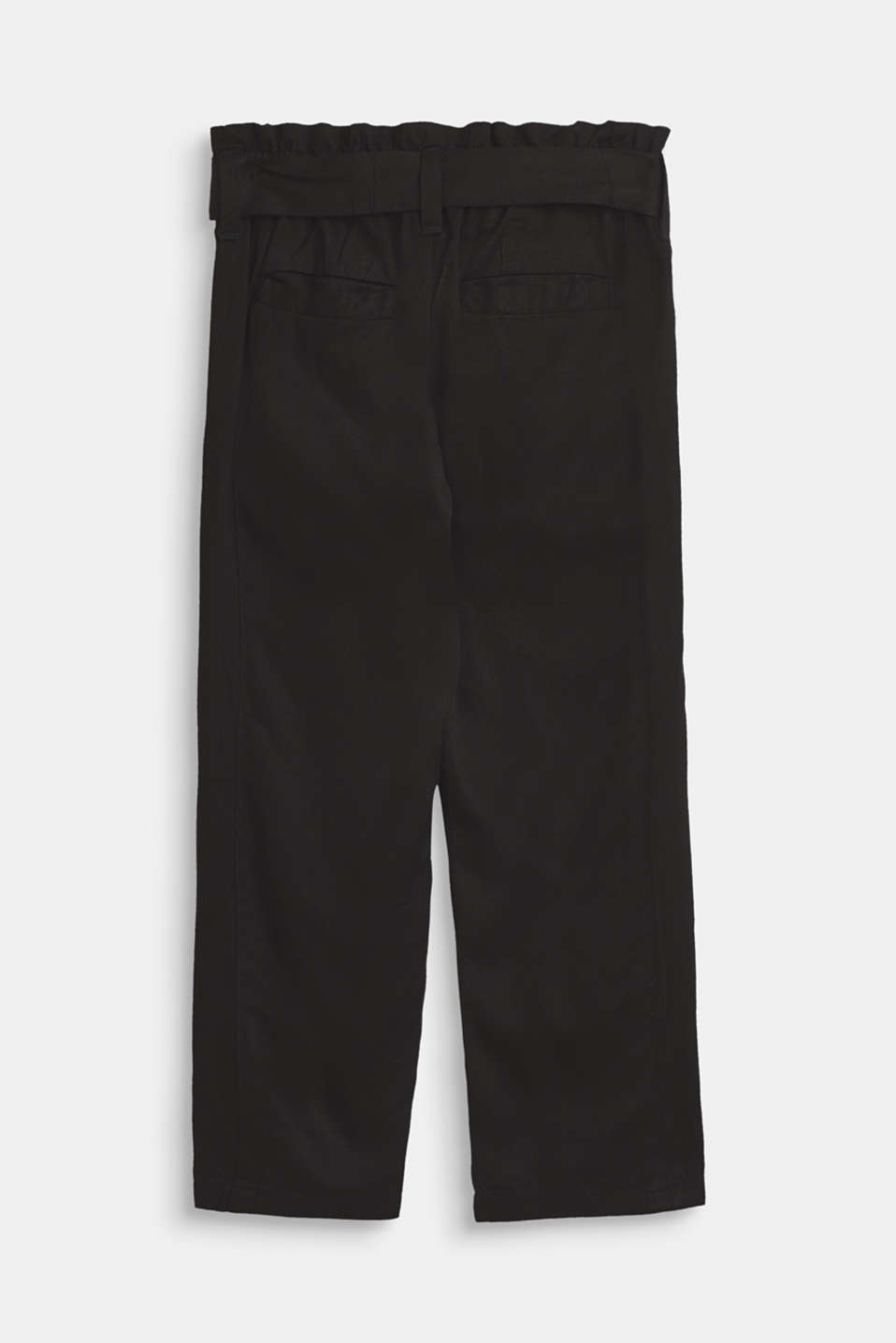 Flowing trousers in a paper bag style, ANTHRACITE, detail image number 1