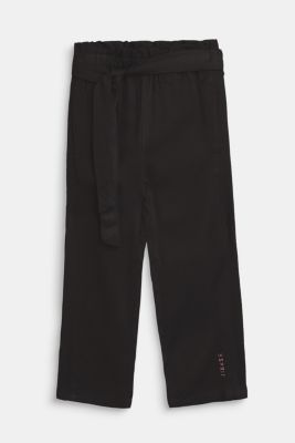 Flowing trousers in a paper bag style, ANTHRACITE, detail