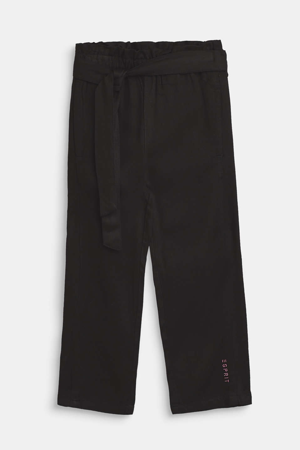 Esprit - Flowing trousers in a paper bag style