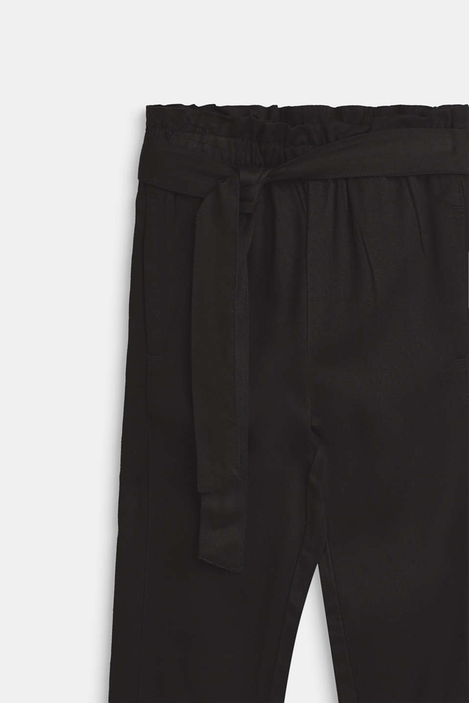 Flowing trousers in a paper bag style, ANTHRACITE, detail image number 2