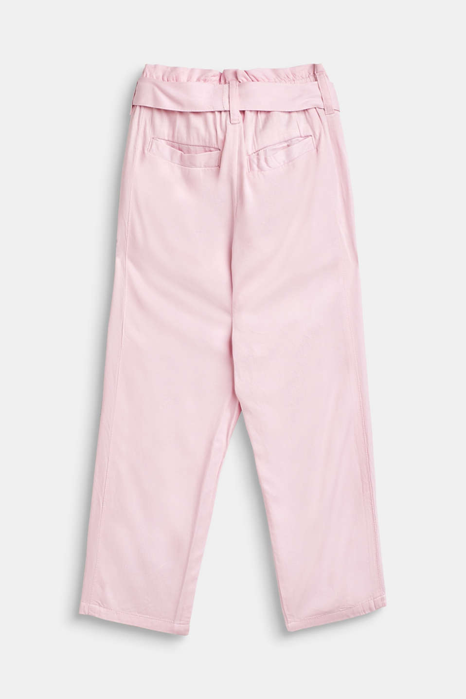 Flowing trousers in a paper bag style, BLUSH, detail image number 1