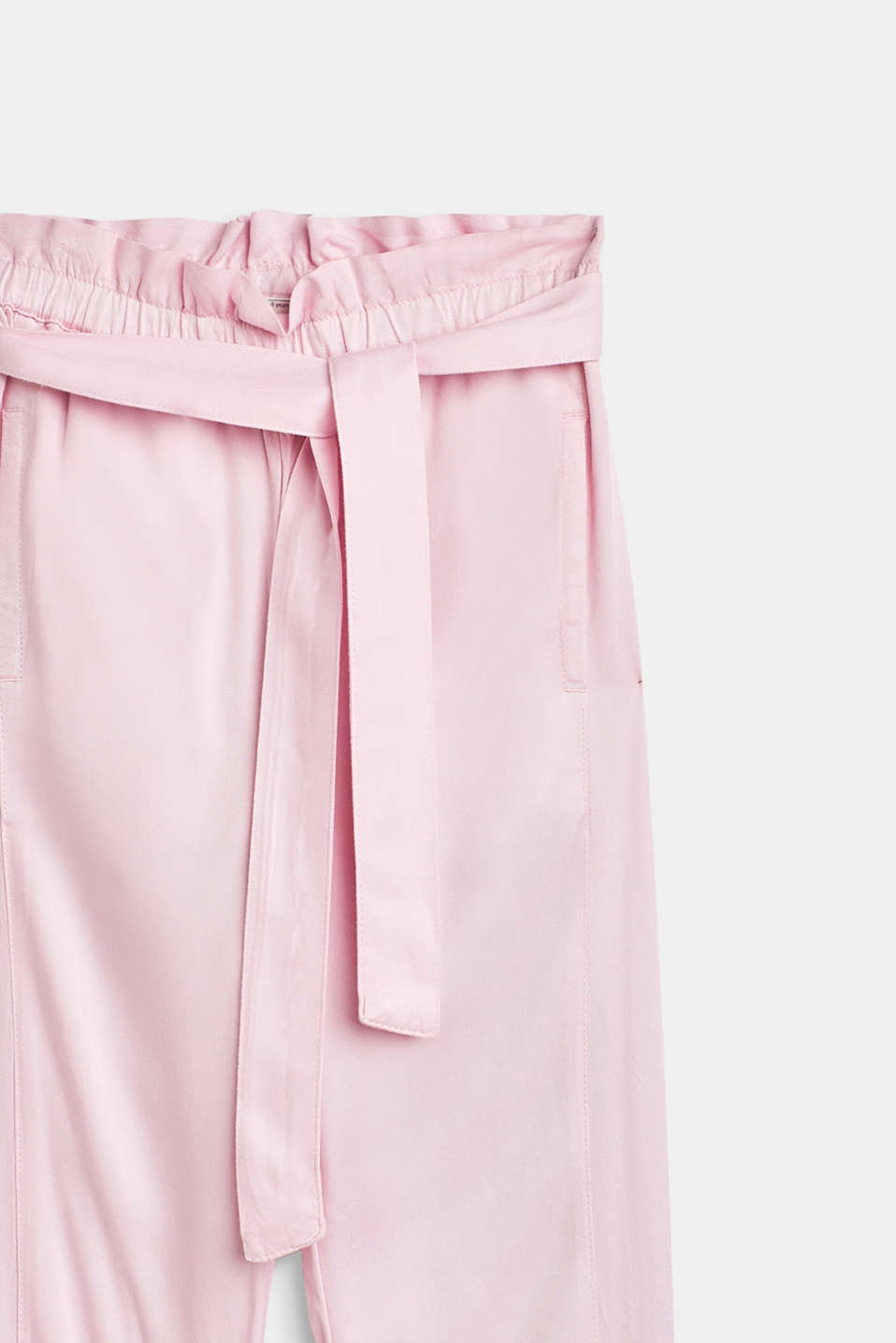 Flowing trousers in a paper bag style, BLUSH, detail image number 2