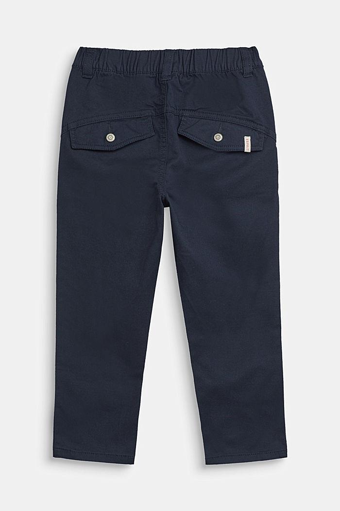 Wijde broek met elastische band, katoen-stretch, NAVY BLUE, detail image number 2