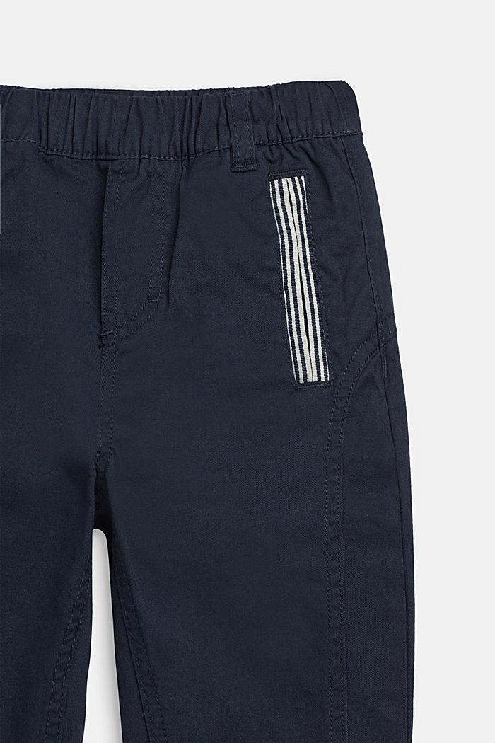 Wijde broek met elastische band, katoen-stretch, NAVY BLUE, detail image number 1