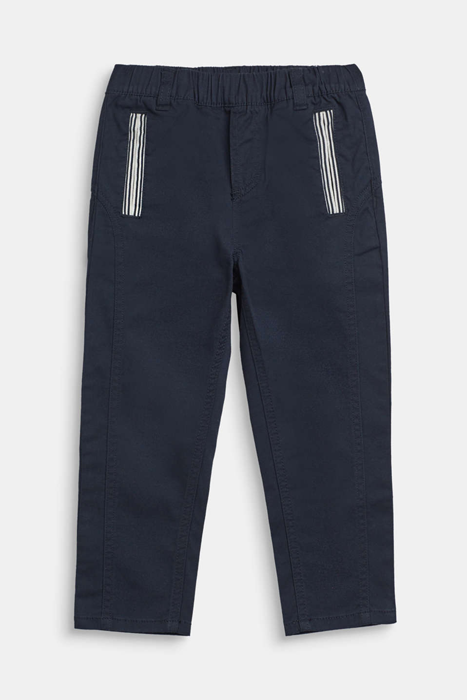 Esprit - Loose stretch cotton trousers with an elasticated waistband