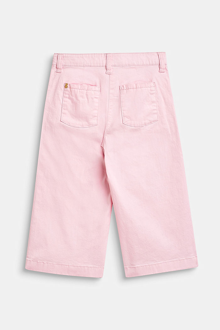 Stretch cotton culottes with an adjustable waistband