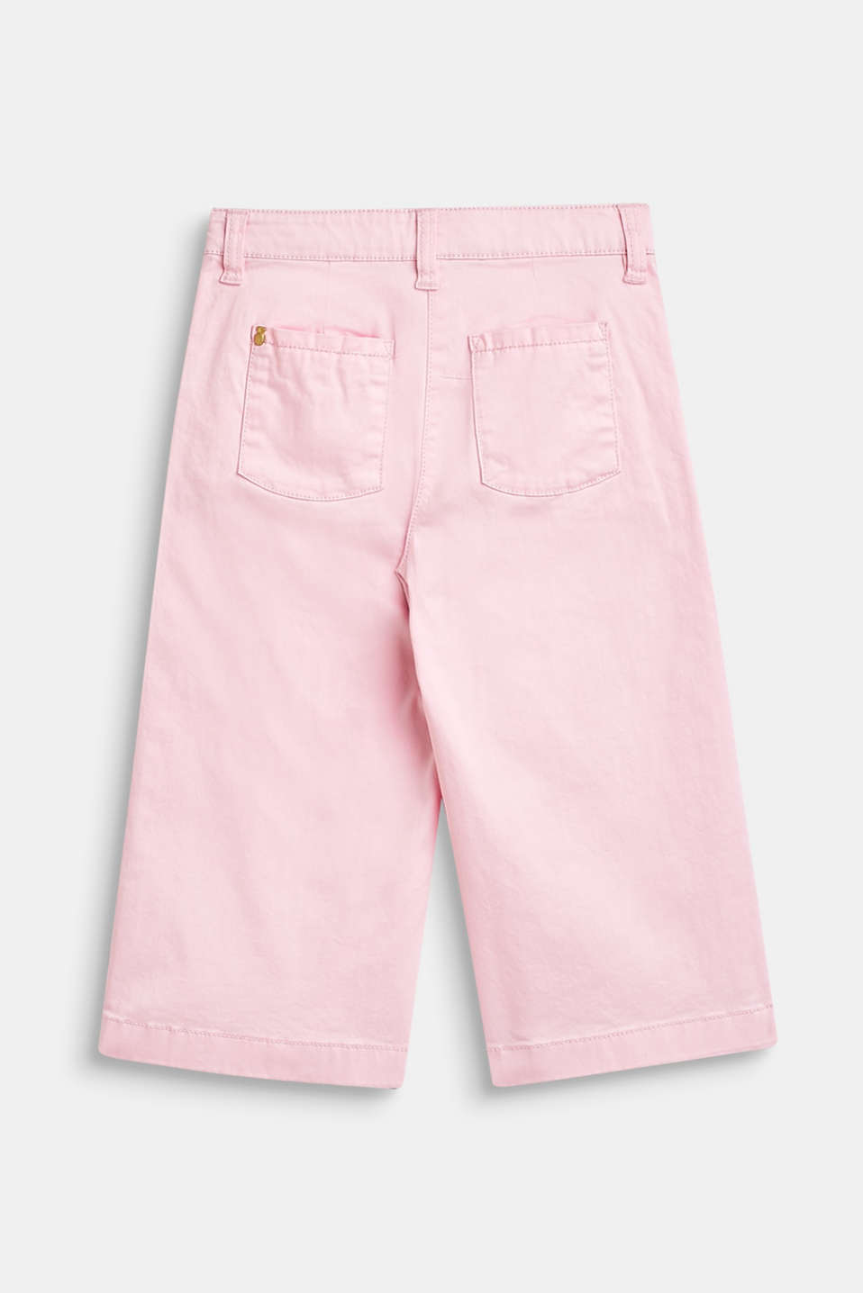 Stretch cotton culottes with an adjustable waistband, BLUSH, detail image number 1