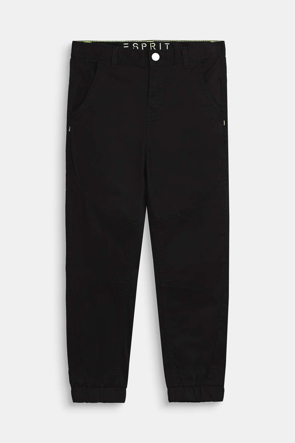 Esprit - Twill trousers in a biker style, made of stretch cotton