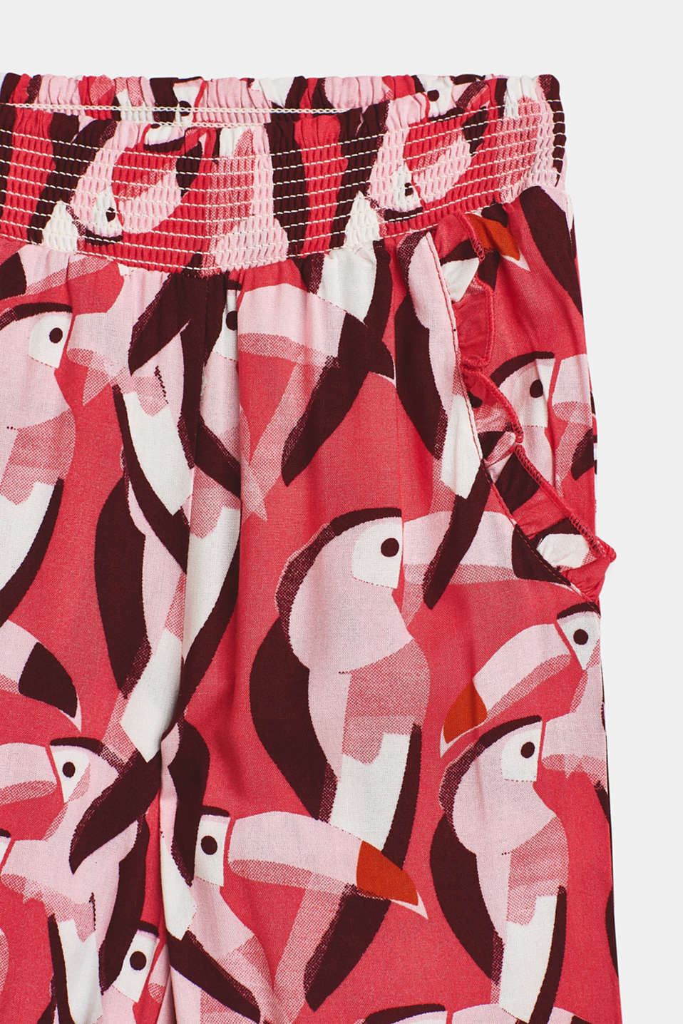 Elasticated woven trousers with a distinctive print, WATERMELON, detail image number 2