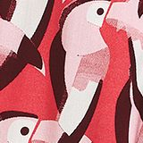 Elasticated woven trousers with a distinctive print, WATERMELON, swatch