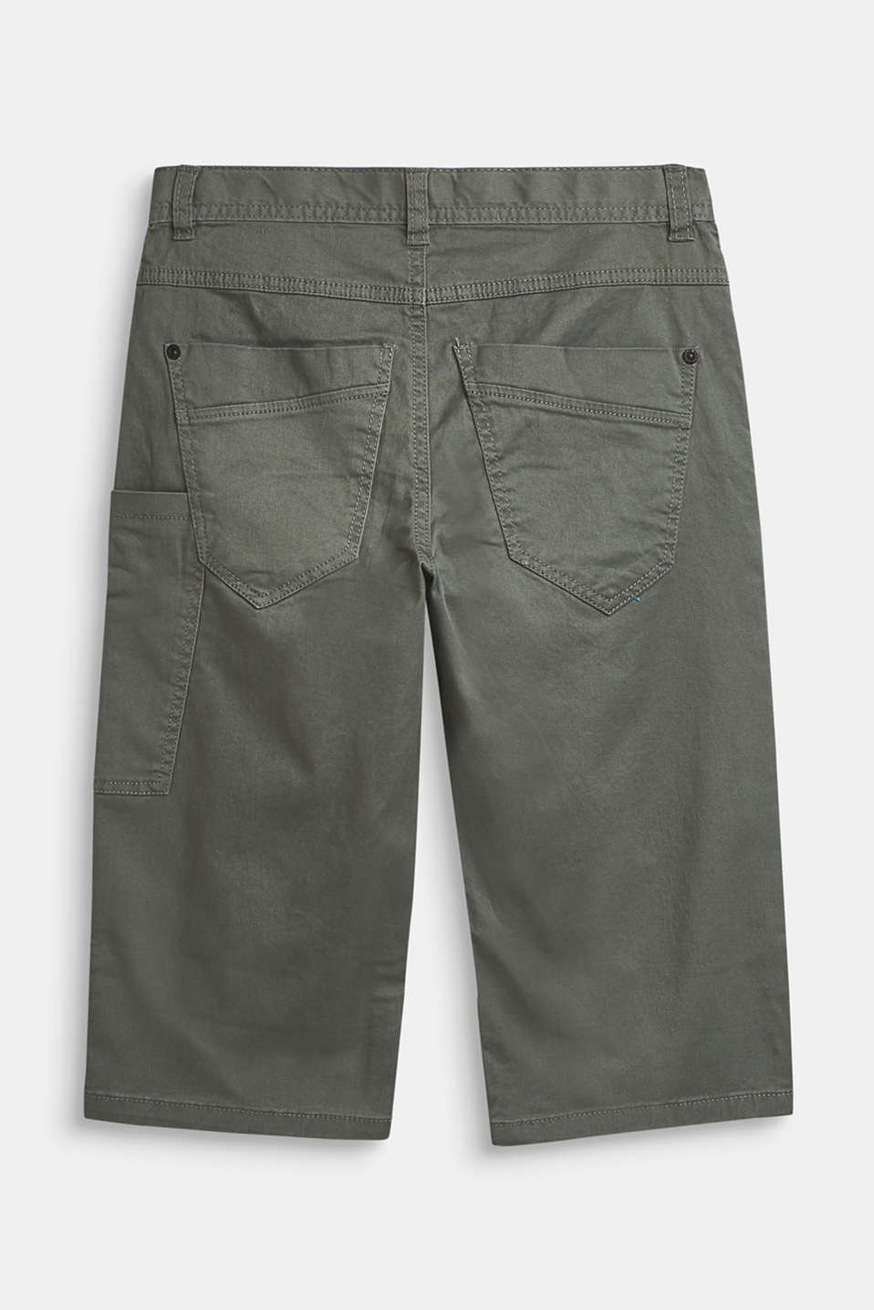 Wide cargo trousers in a 7/8 length, adjustable waistband, LCLIGHT KHAKI, detail image number 1