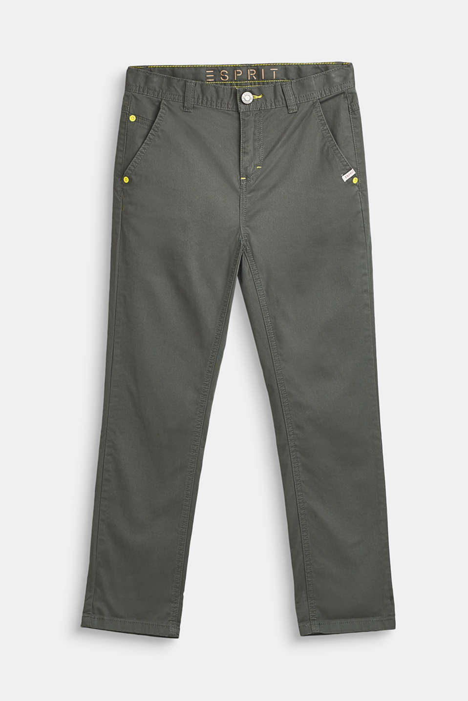 Esprit - Katoenen stretch-chino met verstelbare band