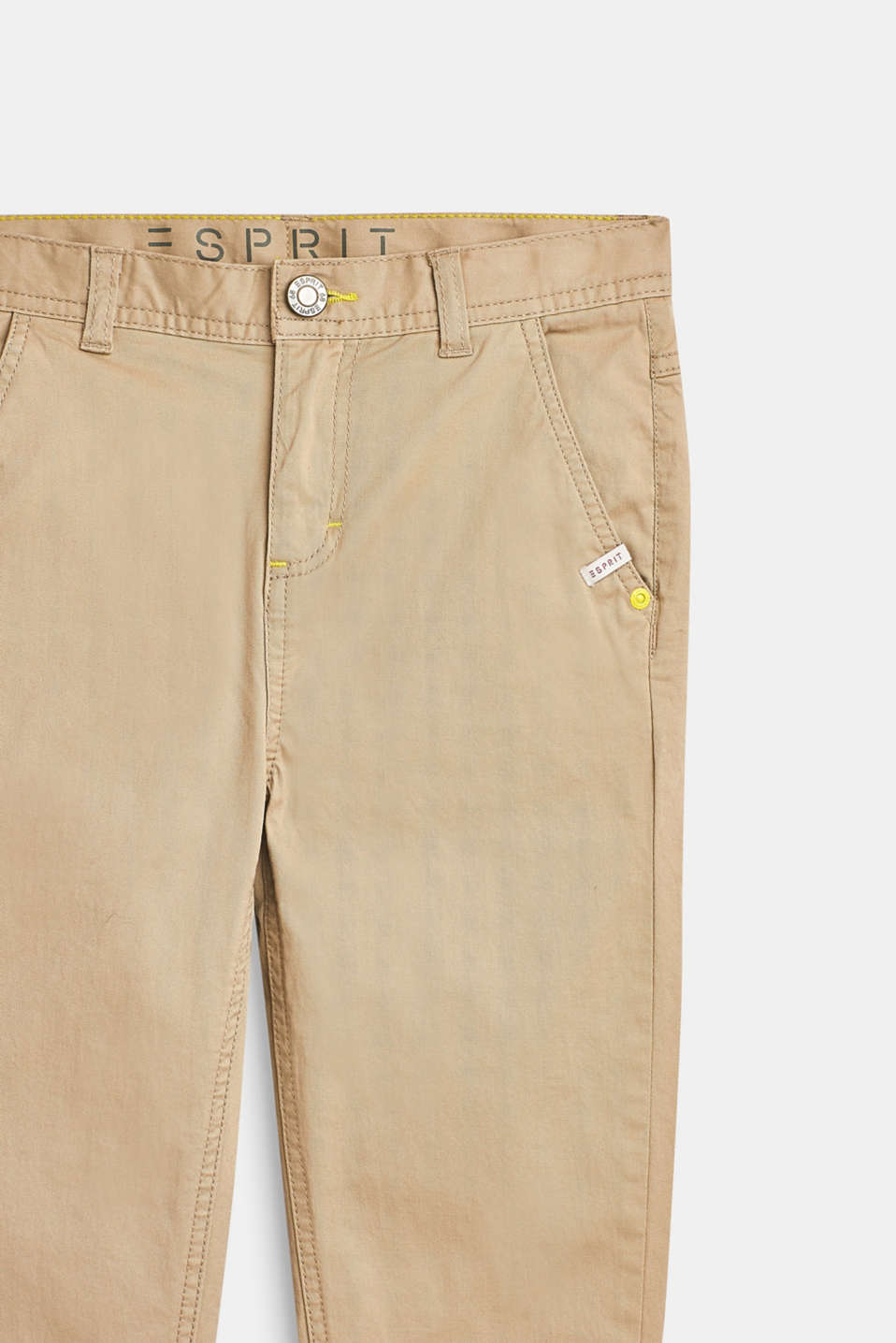 Stretch cotton chinos with an adjustable waistband, LCBEIGE, detail image number 3