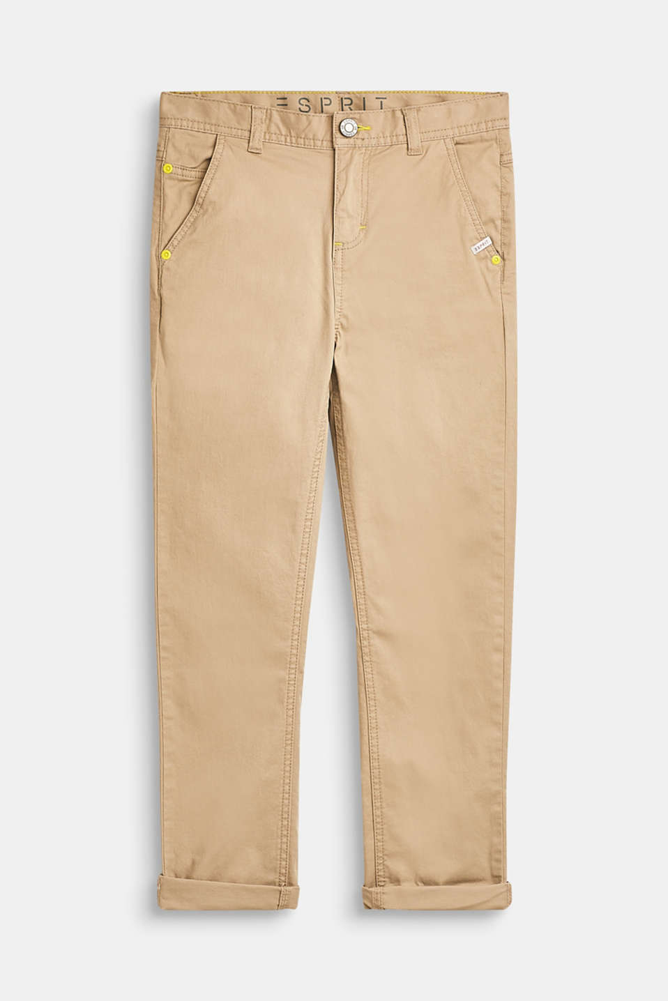 Esprit - Stretch cotton chinos with an adjustable waistband