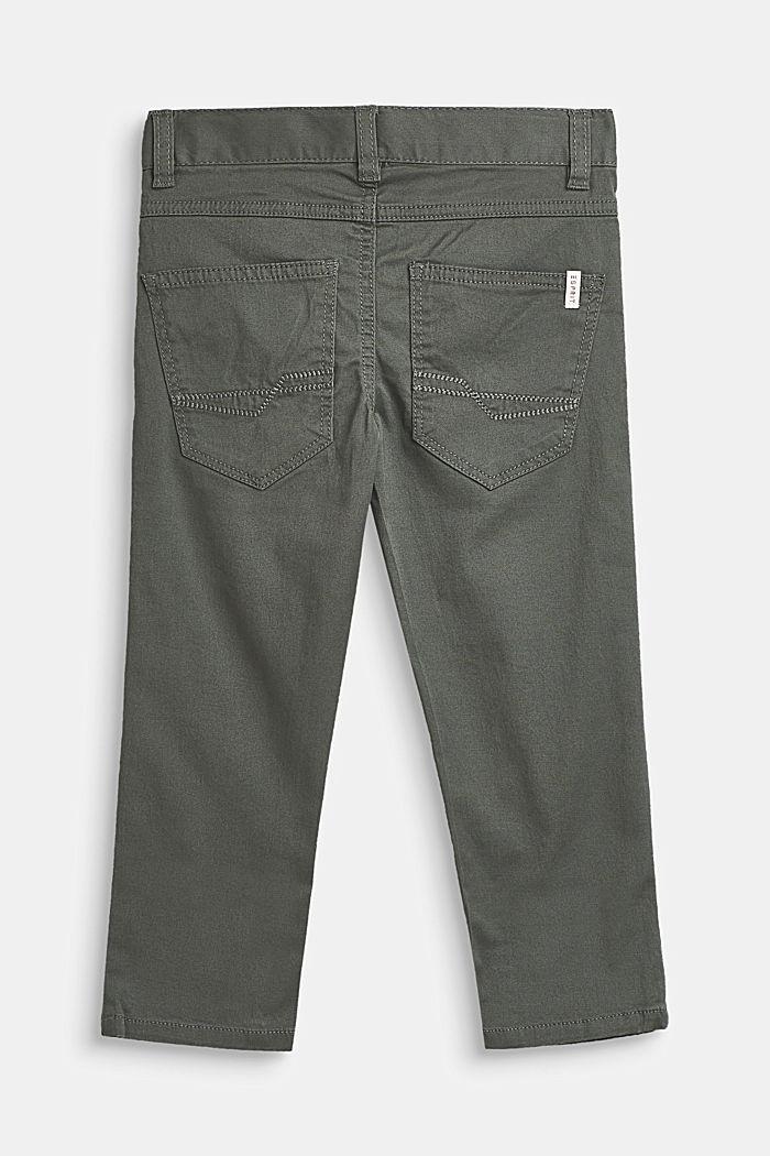 Hose aus Baumwoll-Stretch mit Verstellbund, LIGHT KHAKI, detail image number 1